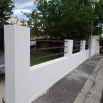 rénovation mur de clôture et terrasse : zoom sur le mur