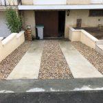 rénovation d'extérieur descente garage carrelage gravier portail maçonnerie Villepreux