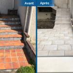 rénovation d'extérieur entrée maison carrelage terrasse Villepreux
