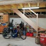 rénovation grange escalier intérieur plancher intermédiaire bois stockage Saint-Prest