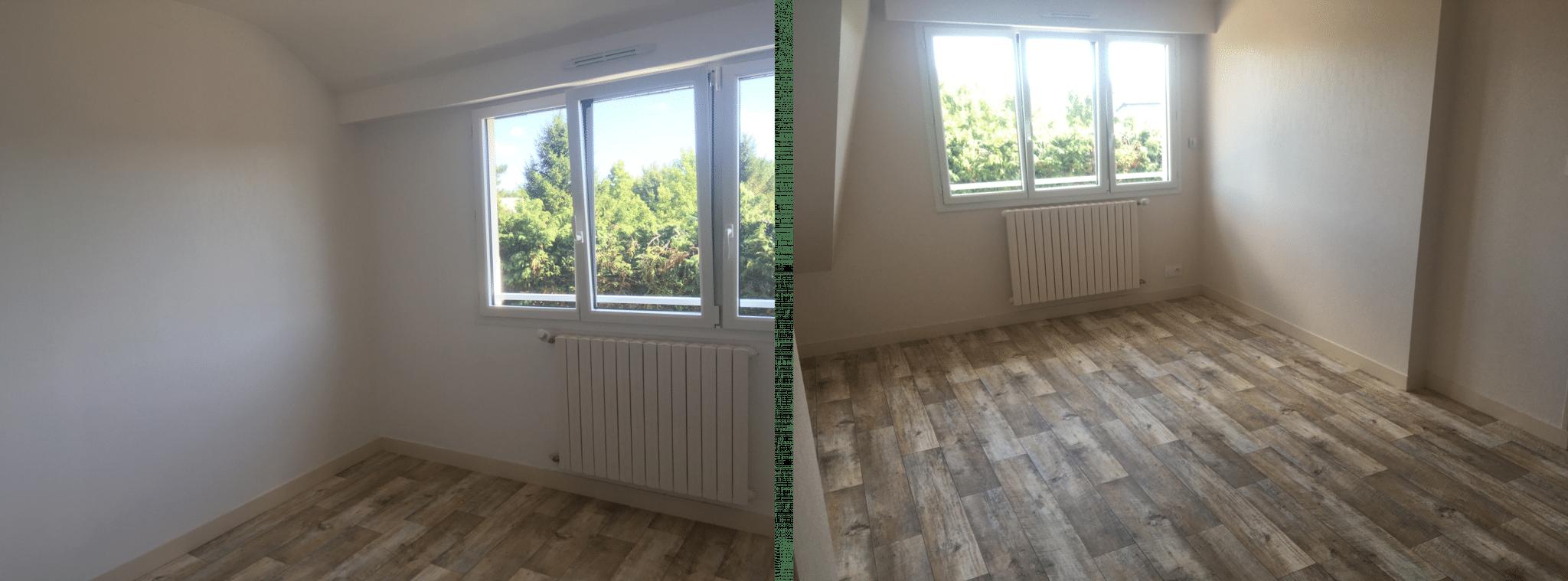 Avant/après d'une rénovation totale de maison à Arradon (56)