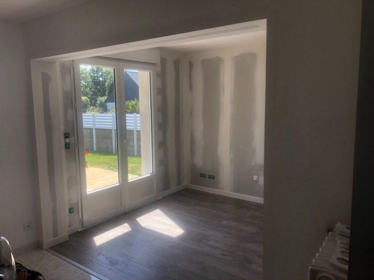 Transformation d'un garage en pièce de vie à Plouhinec (56)
