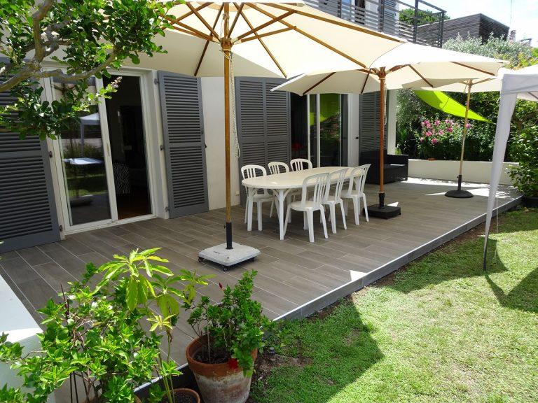 Aménagement extérieur à Lattes (34) : rénovation de mur de clôture et de terrasse