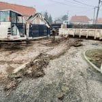 aménagement entrée de maison : phase préparatoire des travaux