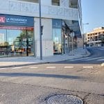rénovation d'une agence immobilière à Castelnau-le-Lez : devanture vitrine extérieur