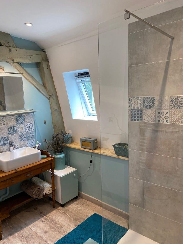 rénovation d'une salle de bain à Tincques : changement de vasque
