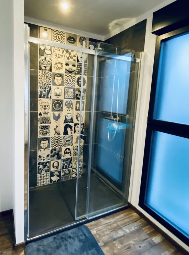 création d'une salle de bain à Saint-Omer : douche