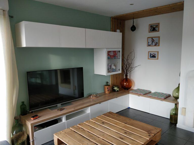 Rénovation d'un salon et d'une chambre à Bilieu (38)