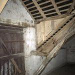 Combles avant travaux - Rénovation d'une longère à Treillières