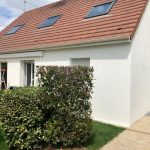 création d'une baie vitrée Le Perray-en-Yvelines : façade de la maison côté jardin