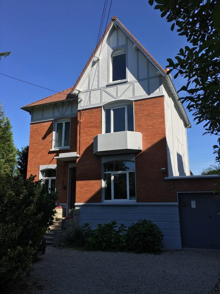 Ravalement des façades d'une maison à Marcq-en-Barœul