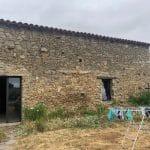 Murs en pierre avant travaux - rénovation grange à Bellevigny