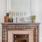 Détail cheminée - Remise en peinture - bureaux professionnels à Lyon