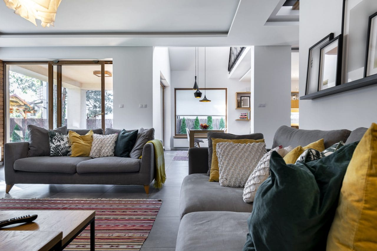 renovation maison Nimes : séjour salon