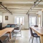 rénovation d'une maison à Rezé : salon et salle à manger rénovés