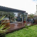 création d'une extension à ossature bois - Rénovation de maison à Saint Jean