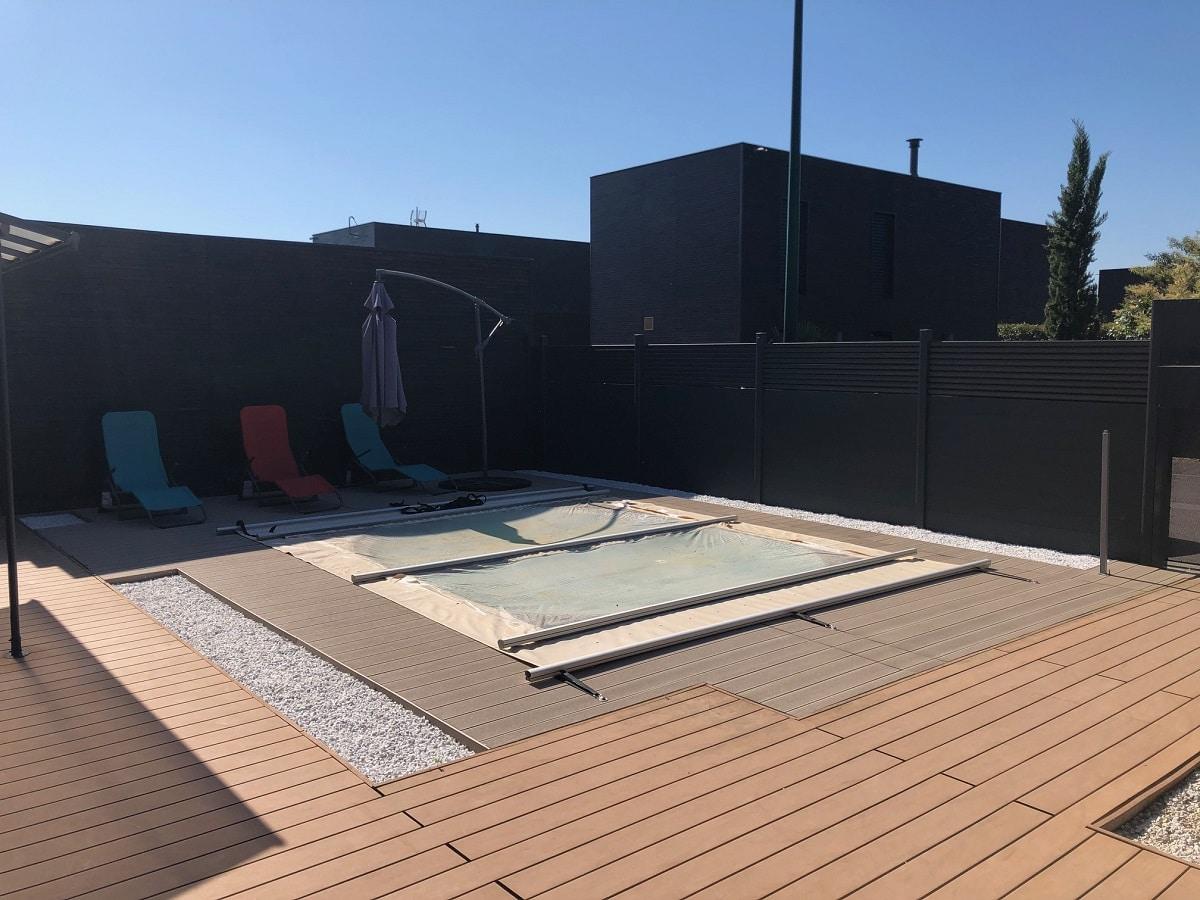 Création d'une terrasse de piscine à Pusignan (69)