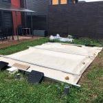 Création d'une terrasse à Pusignan : travaux de piscine en cours