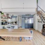 Salle à manger et cuisine - Rénovation de maison à Saint Jean