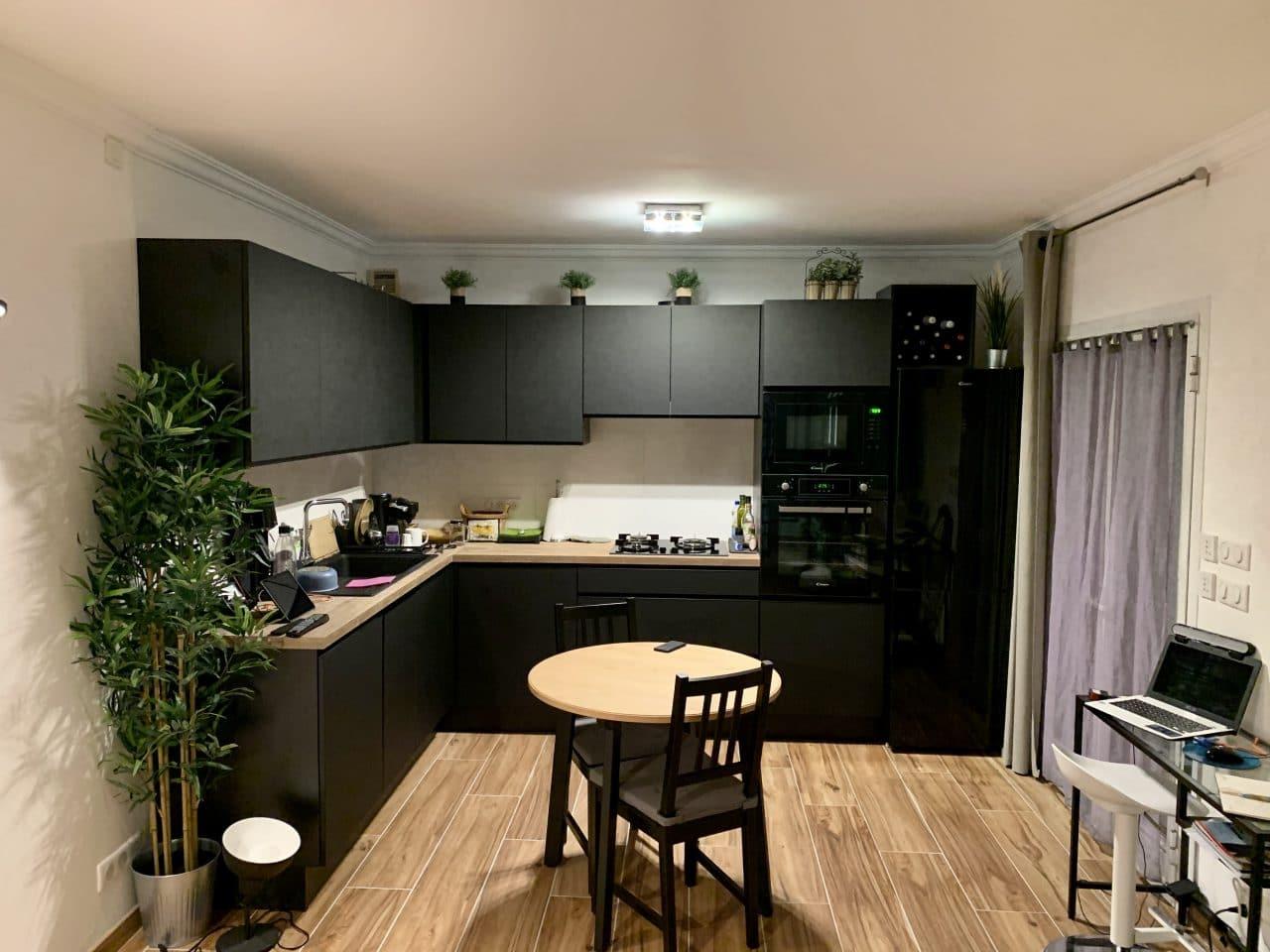 cuiisine rénovée - rénovation d'un appartement à Monaco