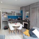 Zoom sur la cuisine rénovée - rénovation d'un appartement à Cluny