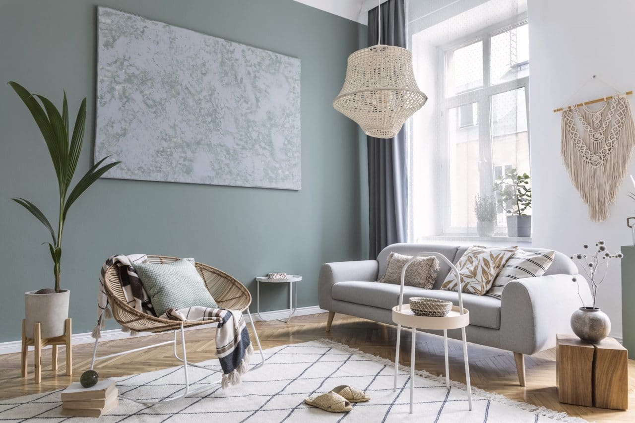 renovation maison chartres : salon vert