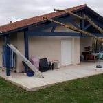 Pignon avant travaux - extension de maison à Mondonville
