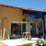 Travaux en cours - extension de maison à Mondonville