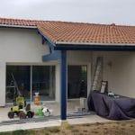 Agrandissement terminé avec crépis - extension de maison à Mondonville
