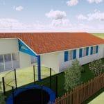 Plan 3D - extension de maison à Mondonville