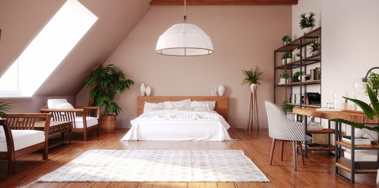 extension de maison Paimpol : amenagement de combles - chambre sous combles