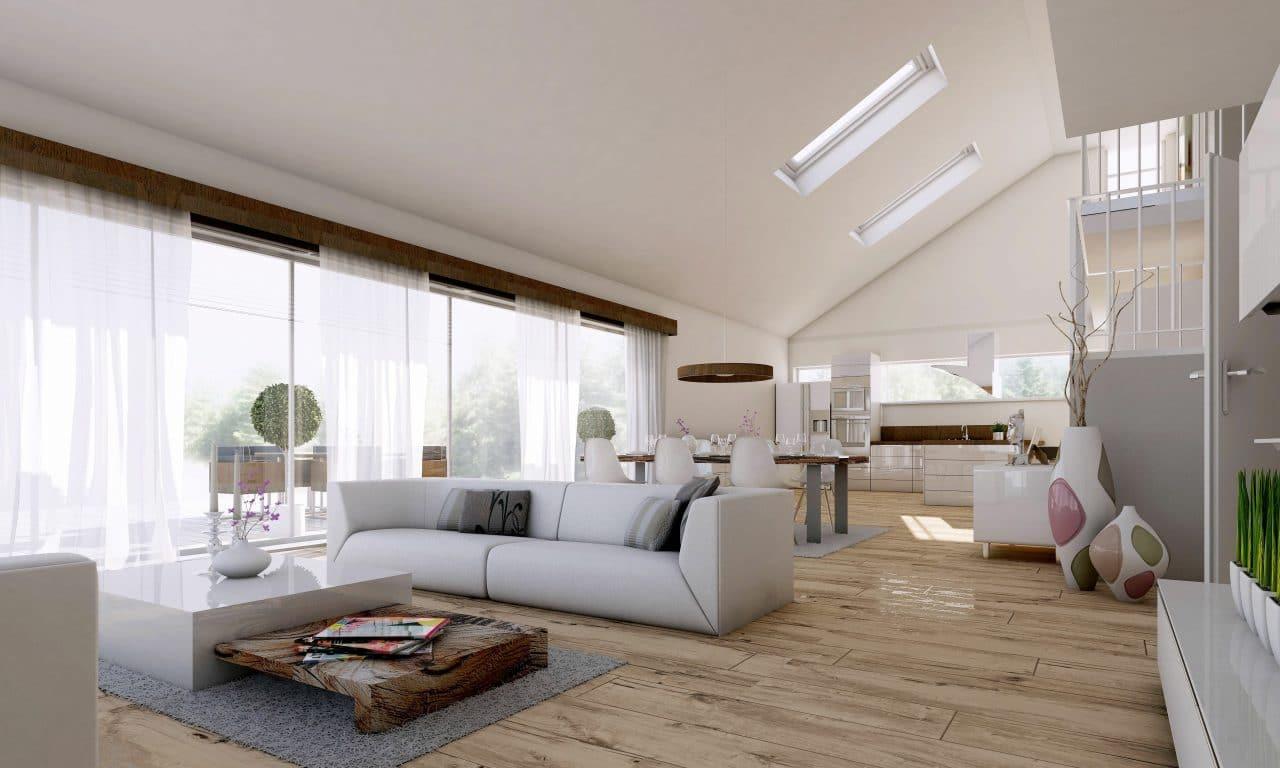 extension maison poitiers : amenagement des combles - séjour sous combles
