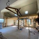Mezzanine en cours de construction rénovation d'une échoppe à Bègles