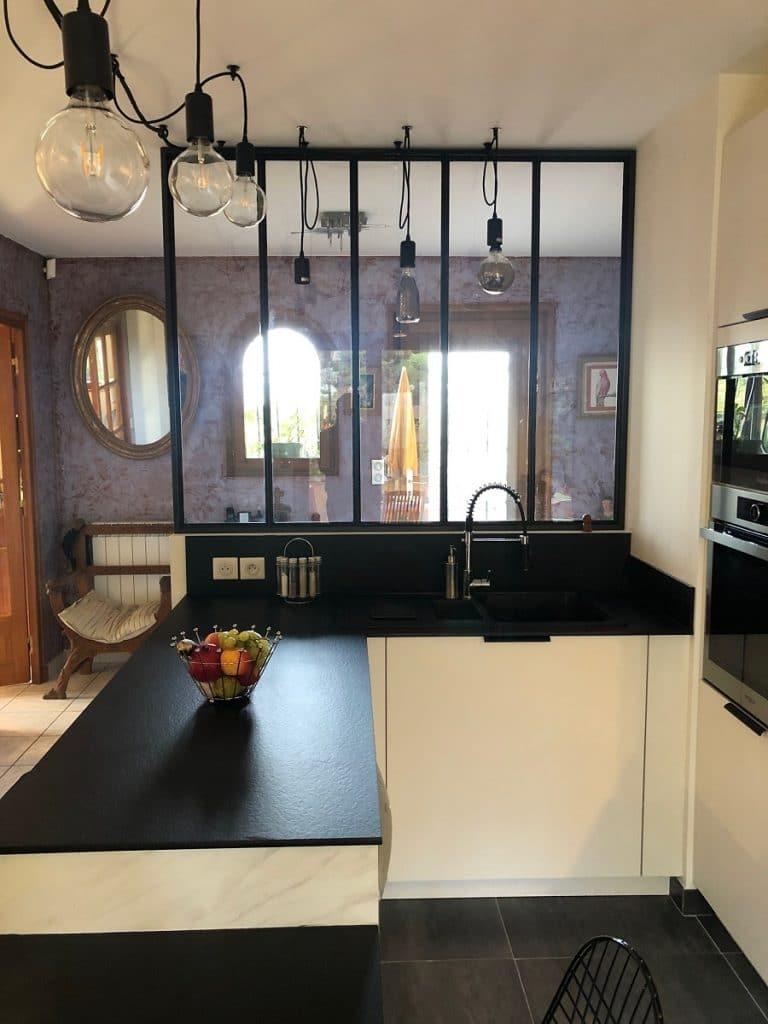 ouverture avec verrière - rénovation cuisine Lyon