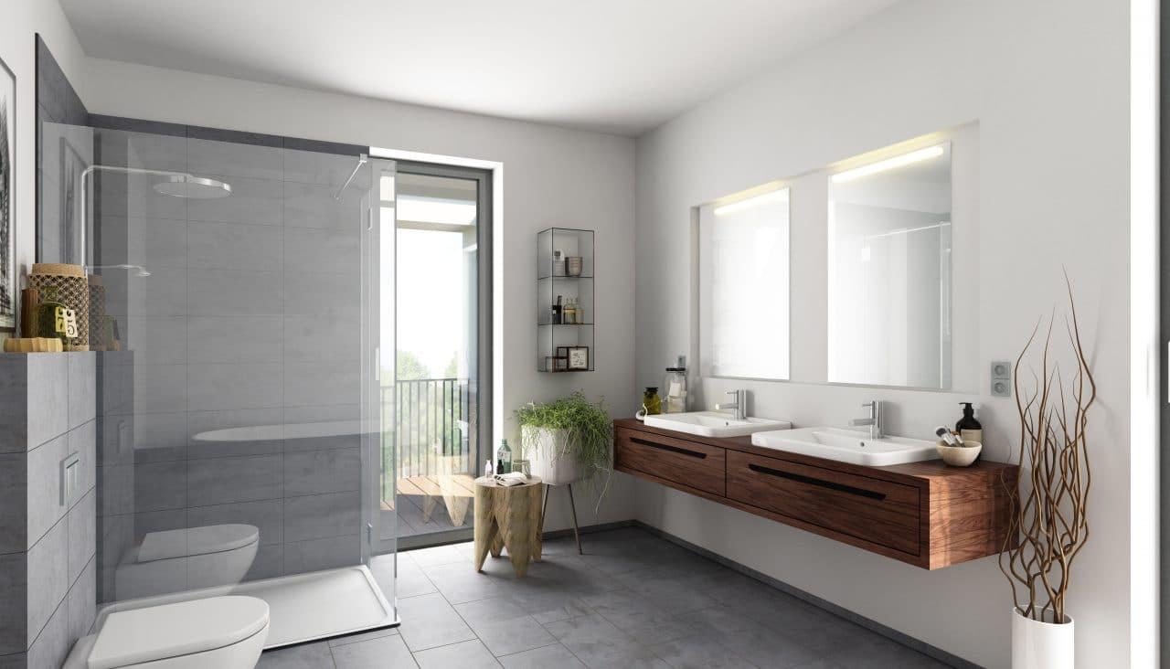 renovation maison bourges : salle de bain