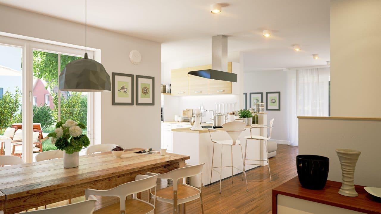 renovation maison Brive-la-Gaillarde : séjour cuisine