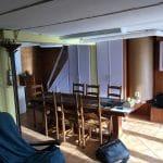 Salle à manger avant travaux - rénovation sous-sol et rez-de-chaussée Saint Nolff