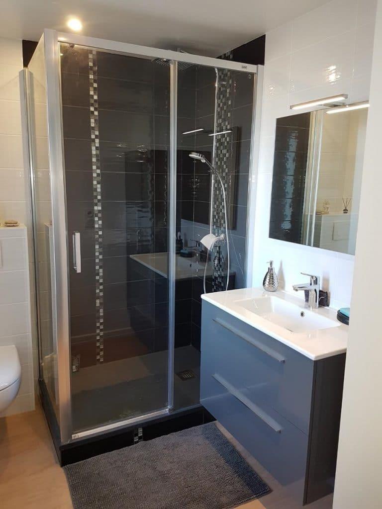 Rénovation d'une salle de bain à Merlevenez (56)