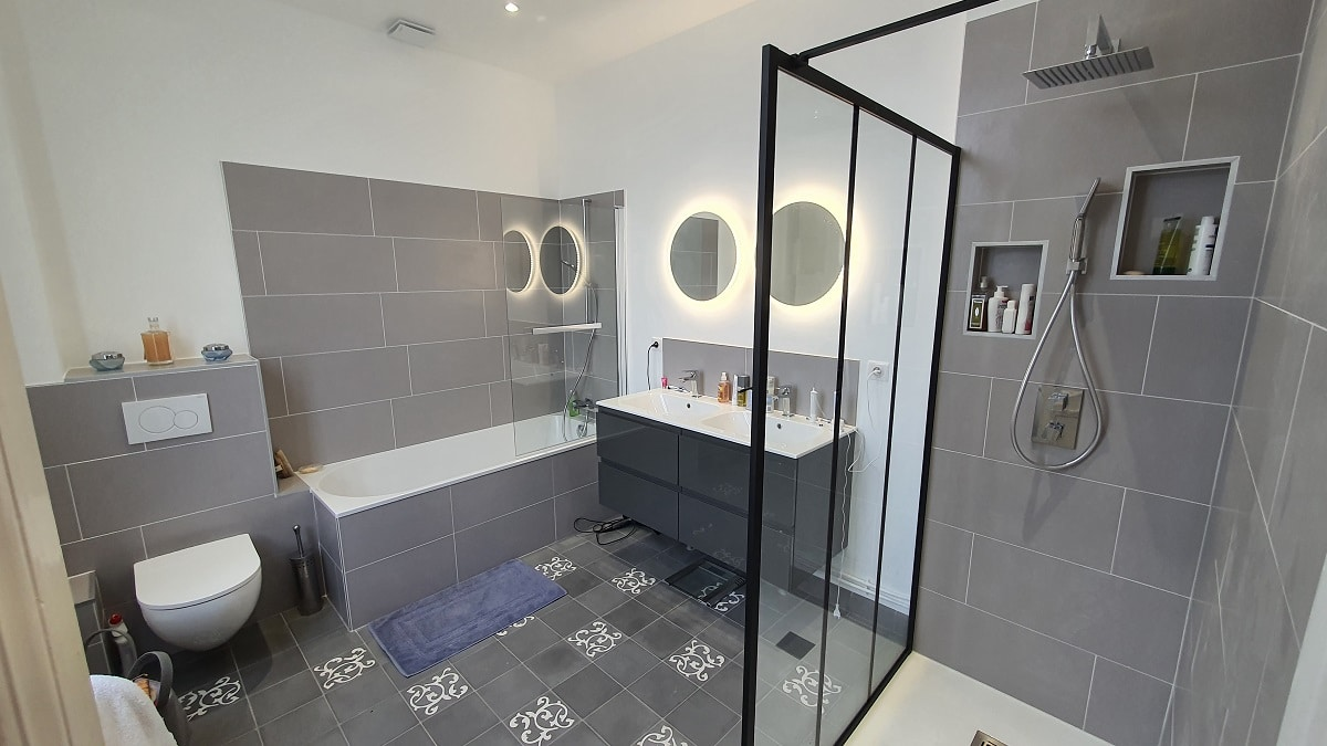 Rénovation d'une salle de bain à Elbeuf (76)