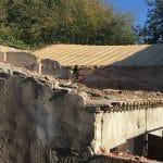 Toiture en cours de travaux - rénovation d'une toiture - Conques