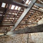 Vue des combles - rénovation toiture Saint-Même-les-Carrières