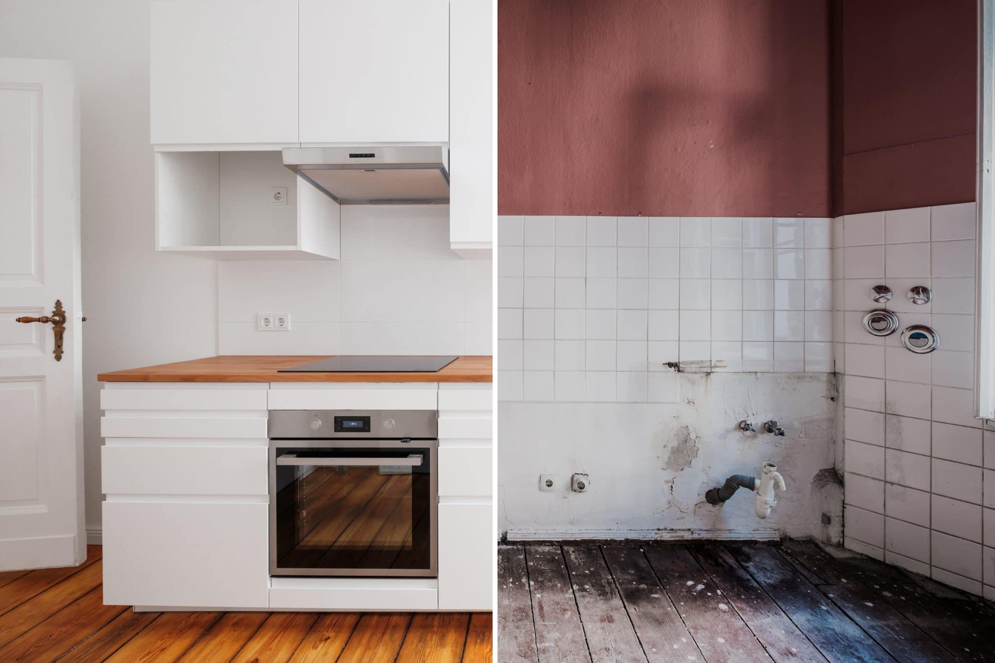 Rénovation et relooking d'une cuisine bois