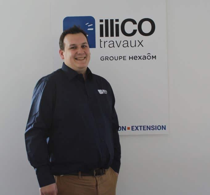 Baptiste Verzelen responsable de l'agence locale illiCO travaux Marcq-en-Baroeul - Bondues
