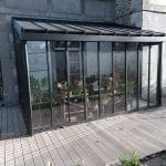 Structure acier galvanisé noir - Création d'un jardin d'hiver à Fougères