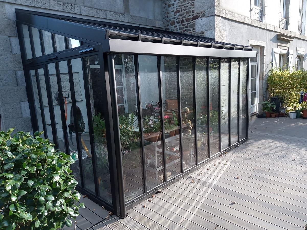 Double vitrage pour la création d'un jardin d'hiver à Fougères