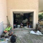 Garage avant extension -Construction d'une extension garage à Grésivaudan en Isère