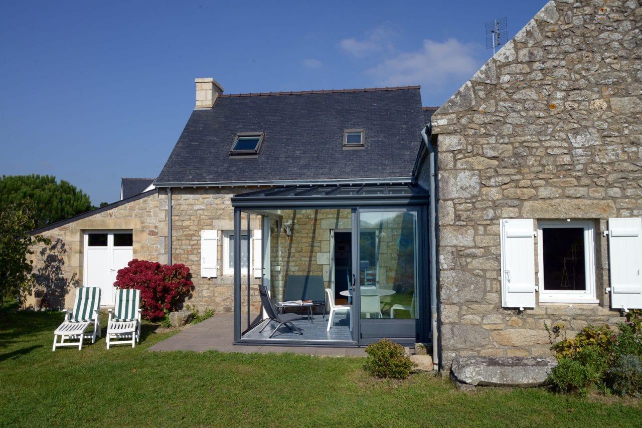 extension maison Saint Brieuc : ajout d'une veranda -  extension horizontale