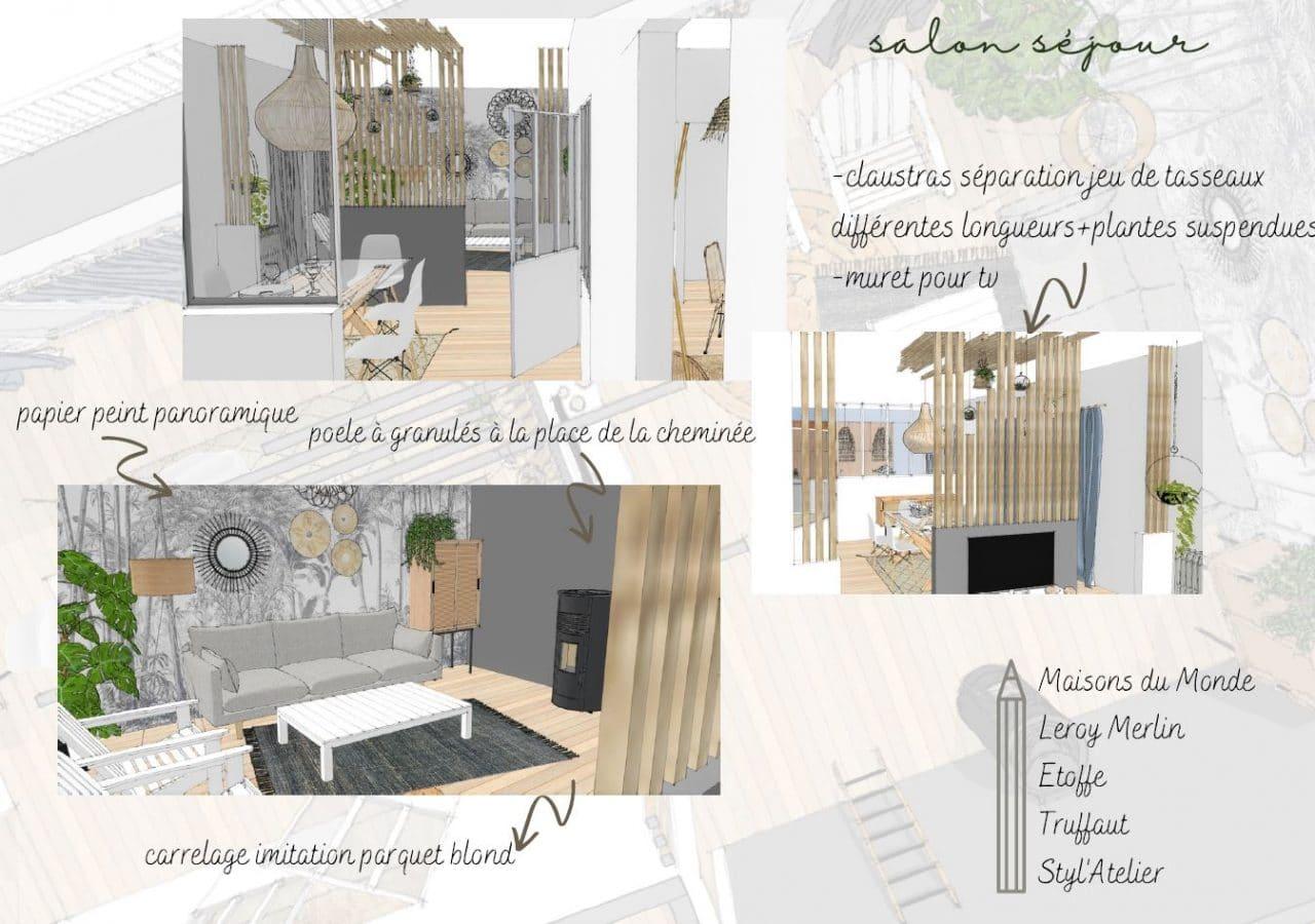 illiCO travaux Sens - Montereau : planche d'ambiance pour décoration d'intérieur