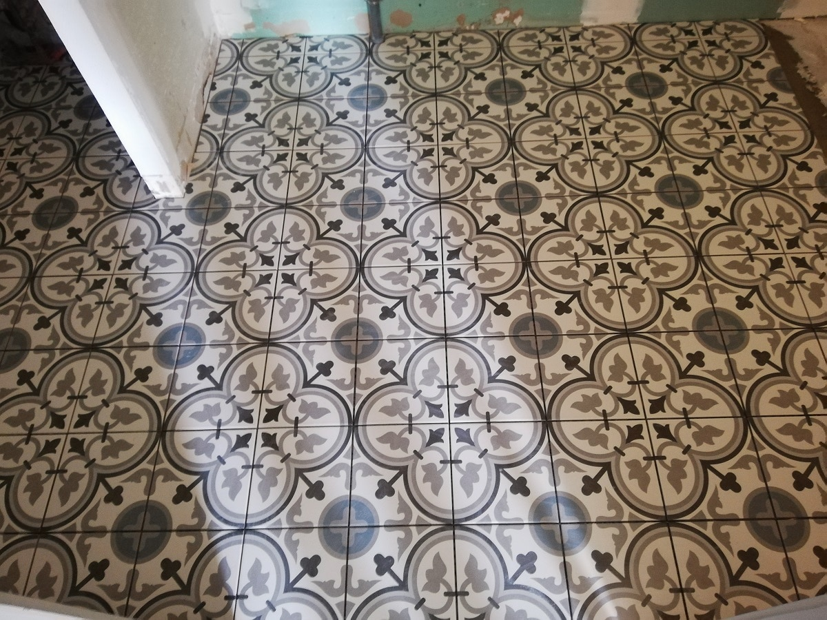 Sol de la salle de bain - Rénovation d'une maison à La Rochelle
