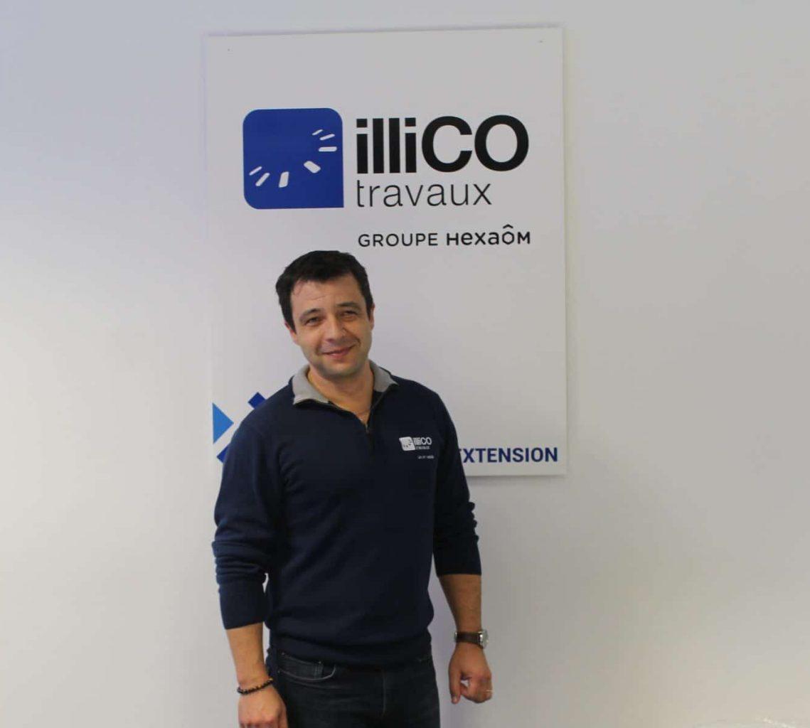 Sébastien Rodriduez responsable de l'agence illiCO travaux Narbonne